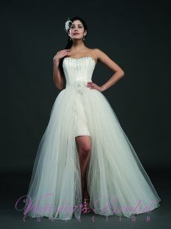 Detachable Skirt Convertible Wedding Dress