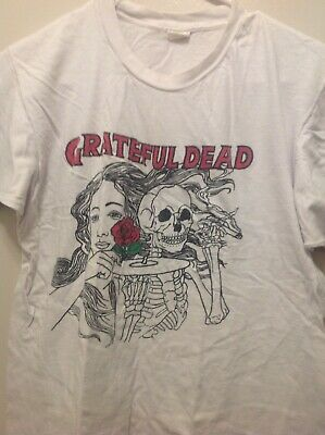 Rare Vintage Original 1980s Grateful Dead T Shirt With Rosa Bud