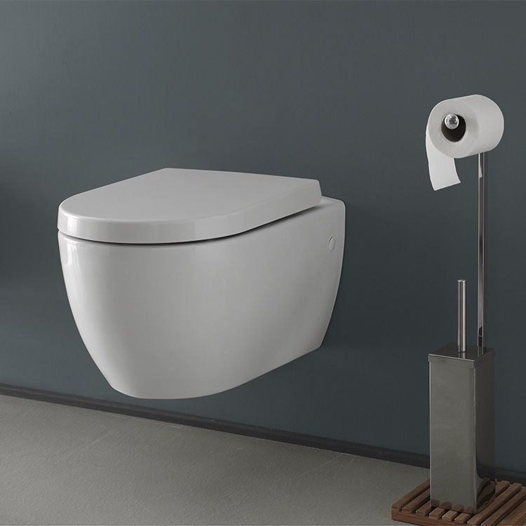 White Ceramic Wall Mount Toilet In 2019 Bathroom Wall