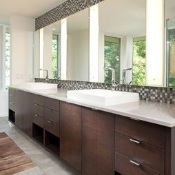 Bathroom Wenge Units Mosaic Tiles Design, Pictures, Remodel, Decor and Ideas - page 7