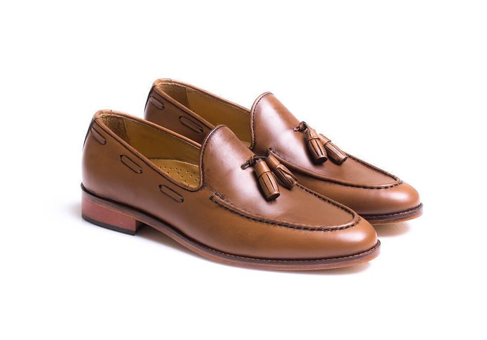 Handmade men Brown color shoes, men moccasin dress shoes