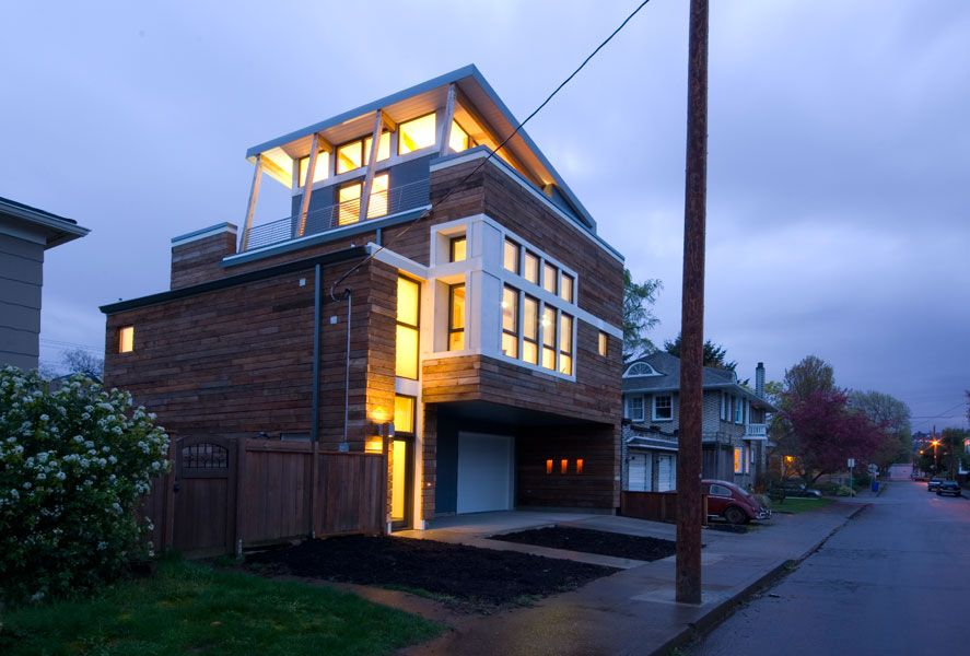 Musician S Dwelling Portland Oregon Modern House Sustainable Modernist Design A Build Coll Seattle Homes New Home Construction Building