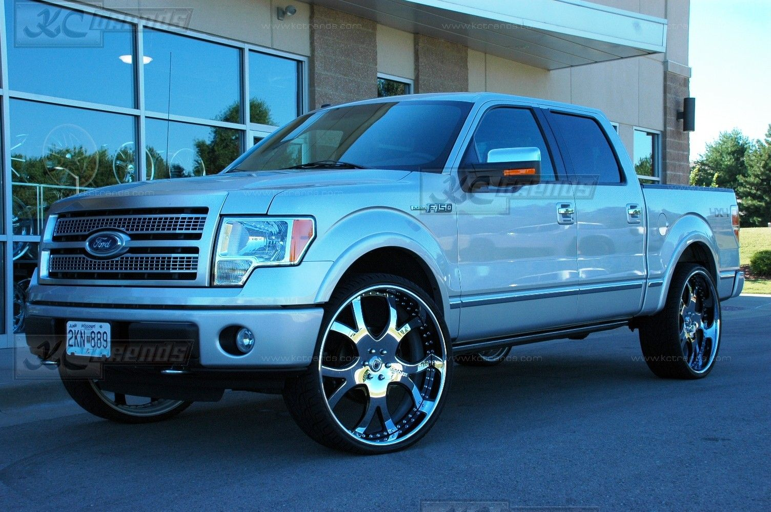 F150 on 24s 2010 ford f 150 platinum edition on 28 inch asanti af143 rims