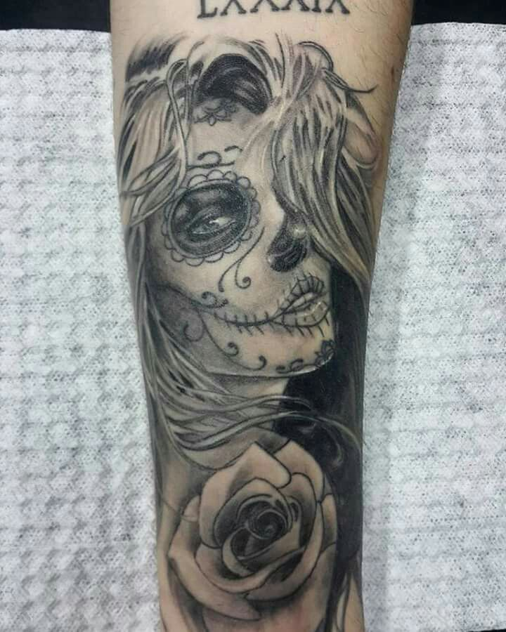 tattoo girl sugar Sexy designs skull