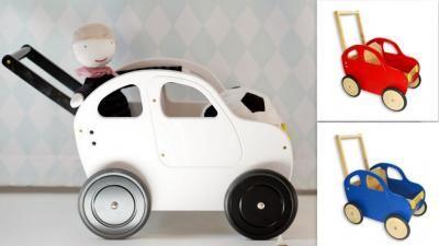 Drewniany Super Wozek Autko Auto Dla Lalek Pchacz 5161592503 Oficjalne Archiwum Allegro