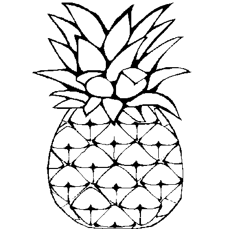 Coloriage Fruits Tropicaux.Dessin Ananas A Colorier Coloriage Pineapple Fruit