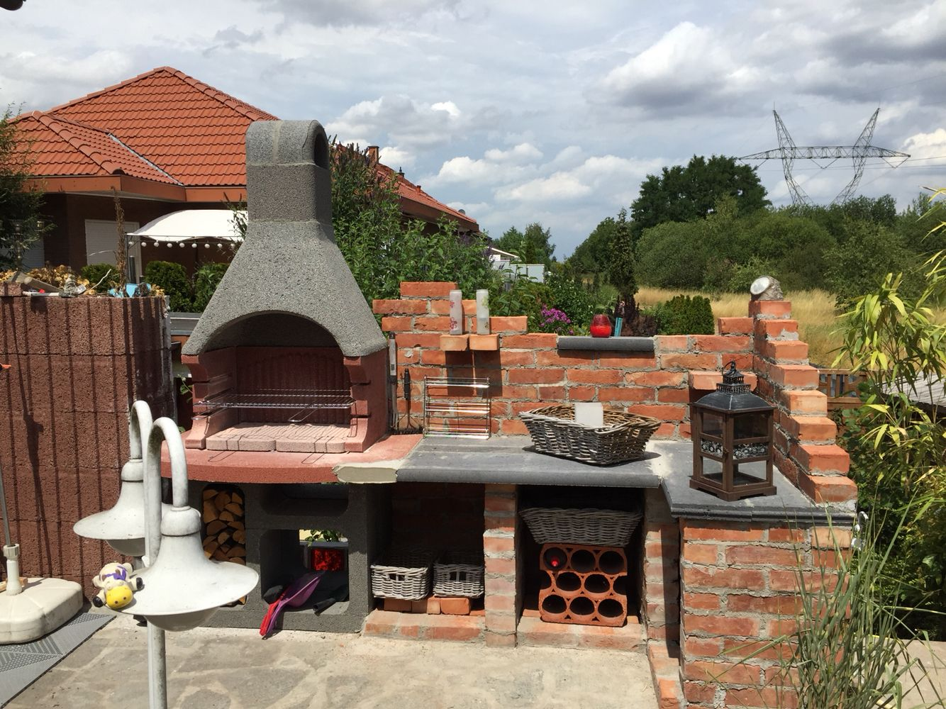 meine neue aussenk che grill w 2018 pinterest patio backyard i grilling. Black Bedroom Furniture Sets. Home Design Ideas