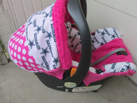 Hot Pink Dallas Cowboys Baby Car Seat Cover By Jennirolli5 On Etsy Need This For Girl