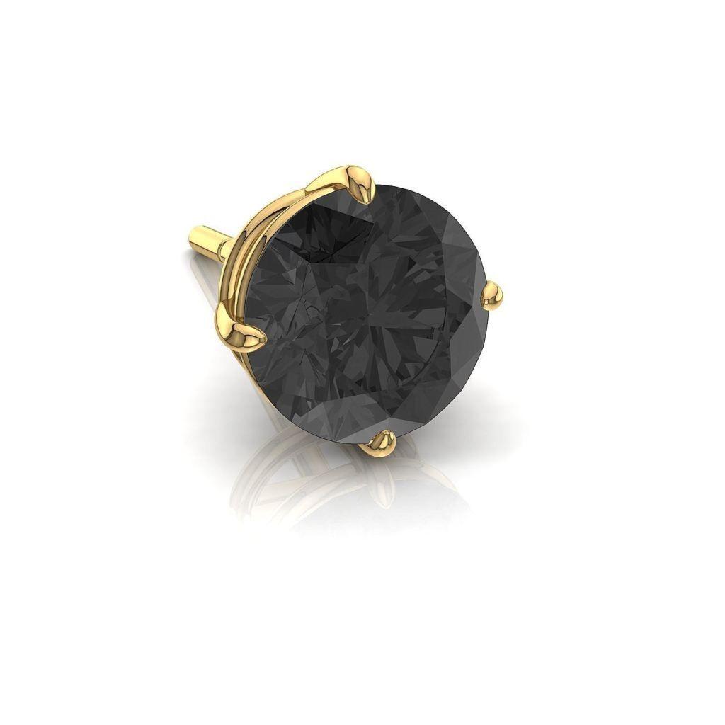 nouveau concept 2b5d1 4f555 Puce d'oreilles homme, diamant noir de 0,50 carats or jaune ...