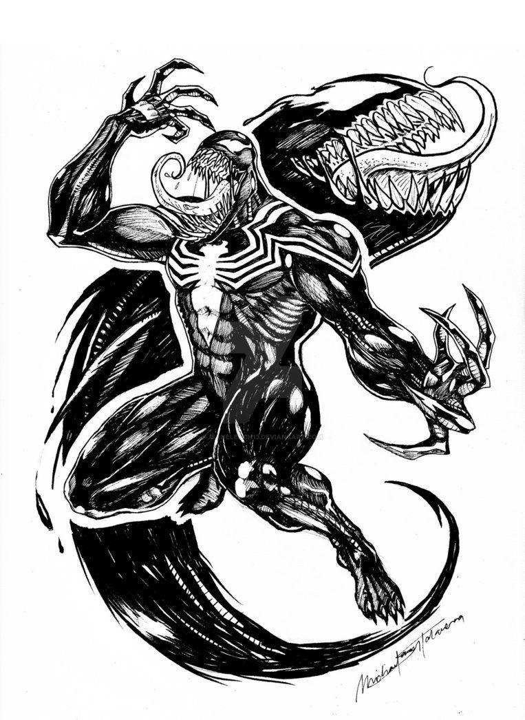 Venom By Isaneleach13 Venom Venom Venom Tattoo Marvel