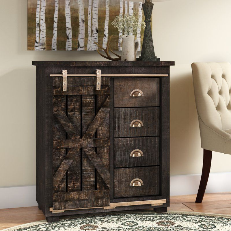 Best Deana 4 Drawer Accent Cabinet Sliding Cabinet Doors 400 x 300