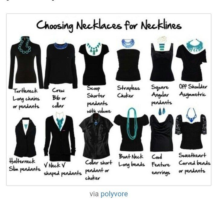 Escolhendo o colar certo  para cada tipo de roupa.
