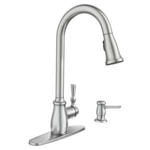 Moen Fieldstone Single Handle Pull Down Sprayer Kitchen Faucet With