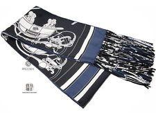 Auth Hermes fringe silk long scarf horse pattern (M202884)