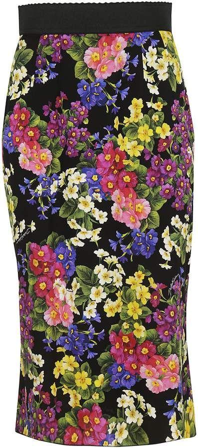7a86505a7 Dolce & Gabbana Floral Skirt Floral Pencil Skirt, Floral Print Skirt, Floral  Tie,