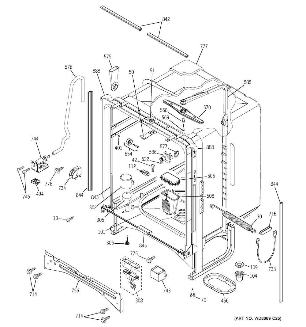 Ge Dishwasher Parts Model Edw4000g03bb Sears Partsdirect Ge Dishwasher Frigidaire Dishwasher Dishwasher Filter