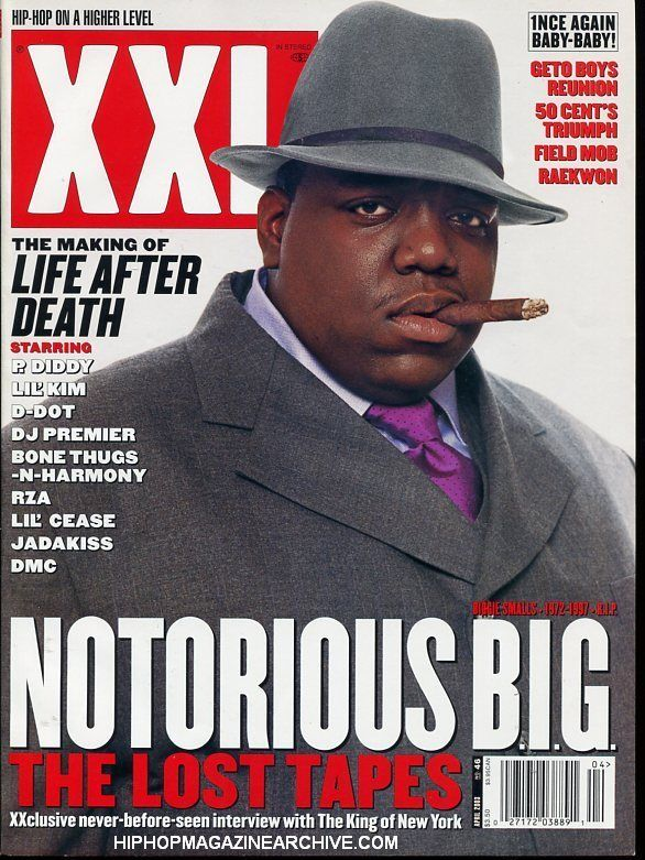 hip hop editorial layout XXL Magazine #46  Notorious BIG Cover - fresh blueprint 2 cover
