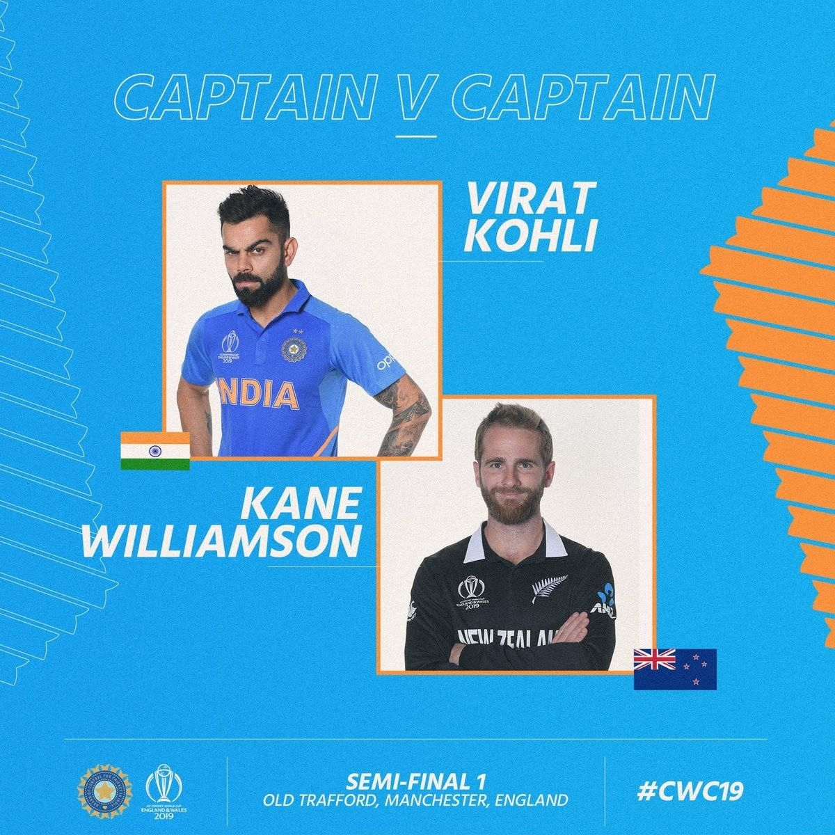 World Cup 2019 Semifinal 1 India Vs New Zealand In Pictures World Cup Manchester England Sport Man