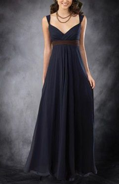 Get this amazing empire V-neck floor-length dress for your girls! Love the empire that defines the waistline and the ways that the dress falls beautifully. Style Code: 02768 $117 Get it here: http://www.outerdress.com/empire-v-neck-floor-length-bridesmaid-dress-pd-02768-12.html #Chiffon #BridesmaidDress #OuterDress