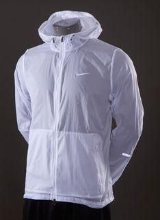 Nike Veste De Course Ouragan Blancs Plusieurs Poches