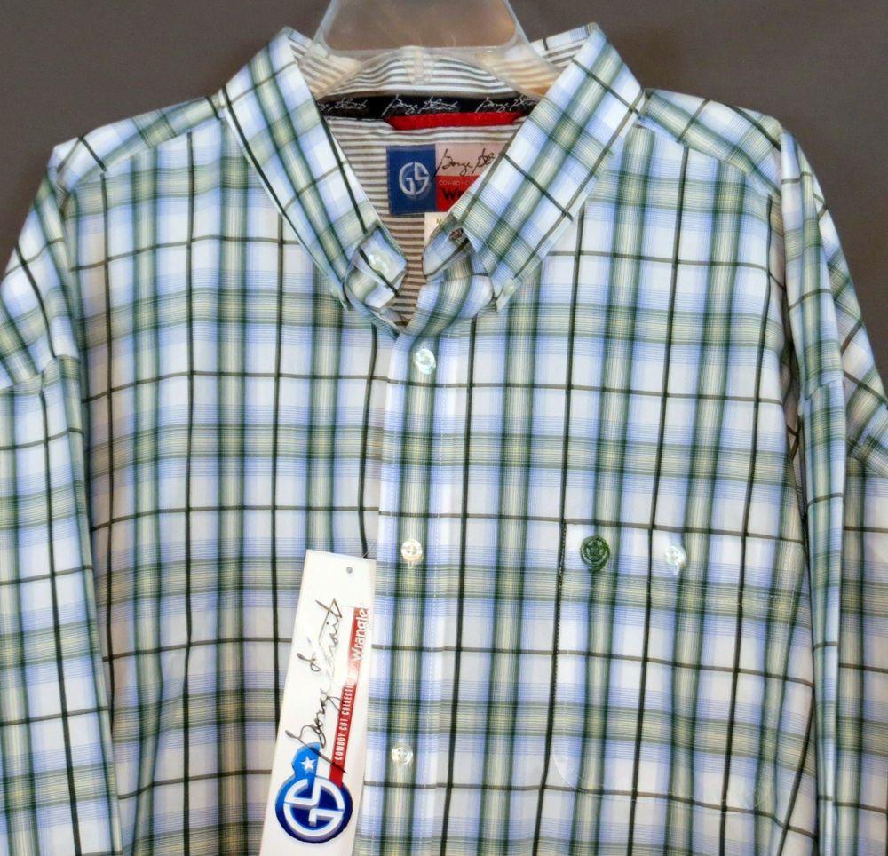 Wrangler George Strait Mgs57gm Mens Shirt Western Cowboy Nwt 4x 4xl