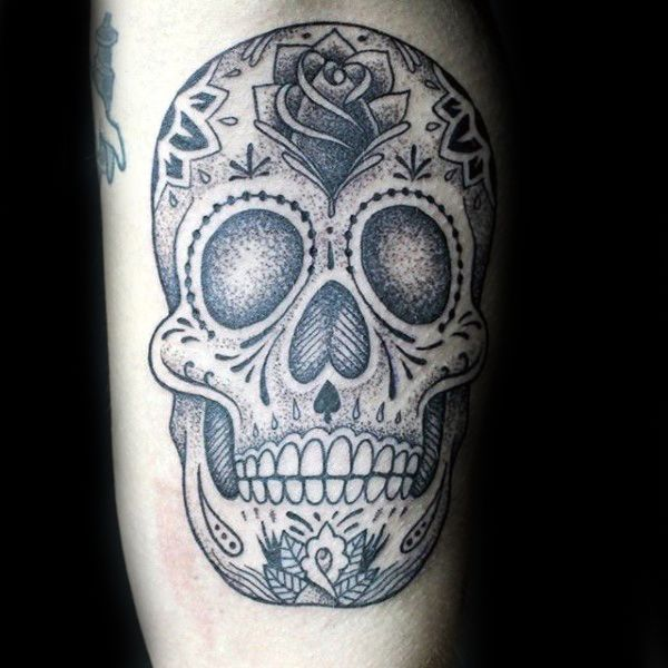 100 Sugar Skull Tattoo Designs For Men Cool Calavera Ink Ideas Sugar Skull Tattoos Skull Tattoo Tattoo Designs Men