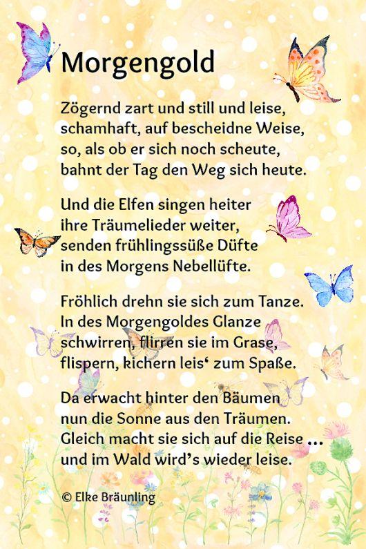 Morgengold Sprüche Gedicht Sommer Kindergedichte Und