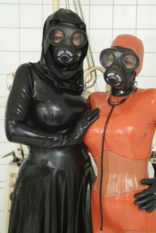 Latex maid becomes rubber creature