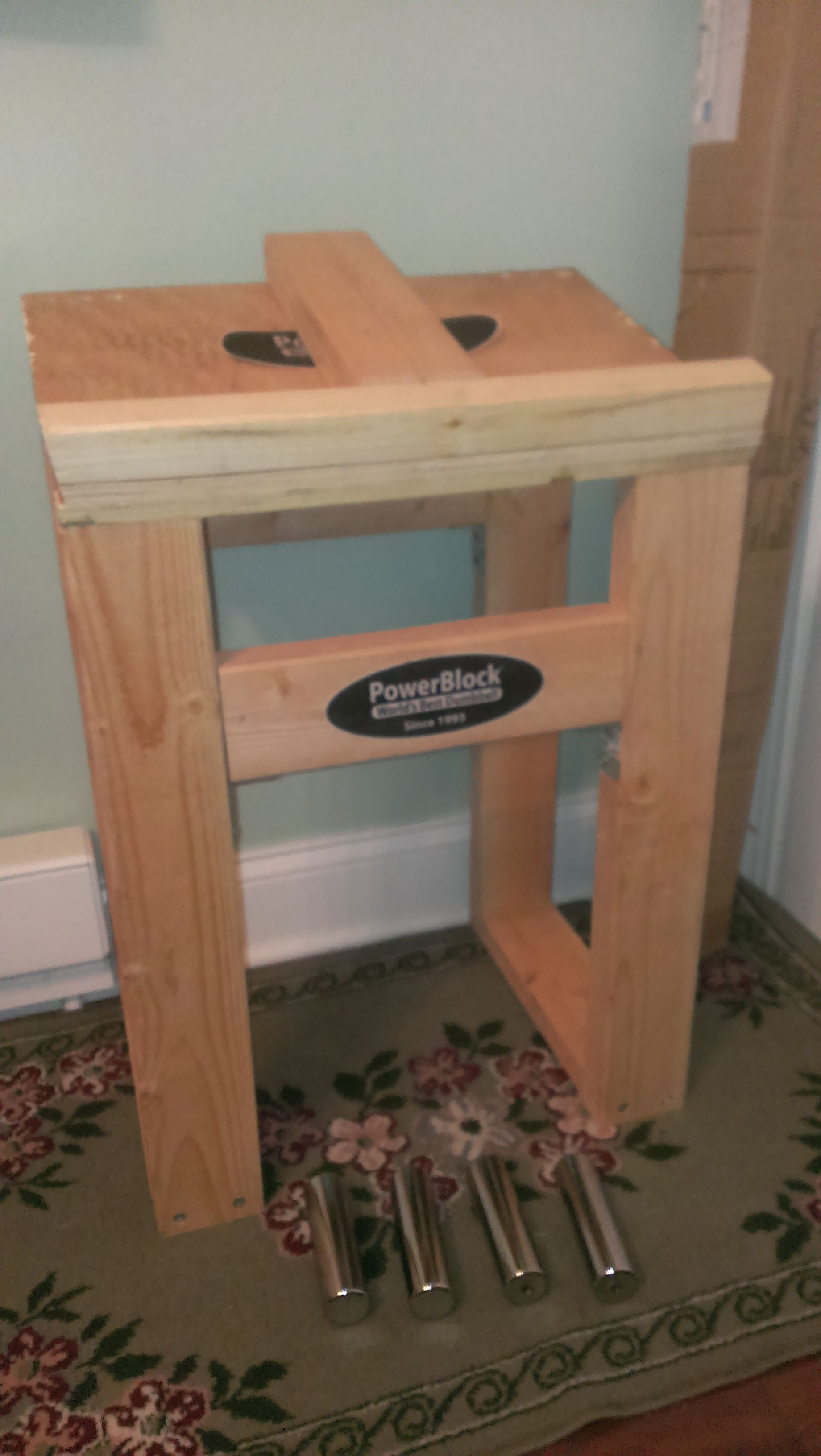 Diy Powerblock Dumbbell Stand Woodworking In 2019 Easy