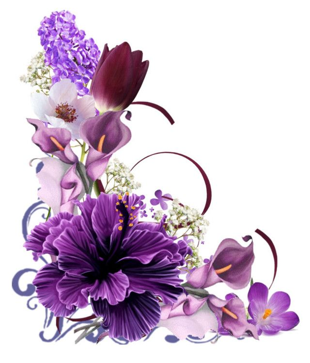 Corner Floral Garden Area: Art, Floral Wreath, Purple