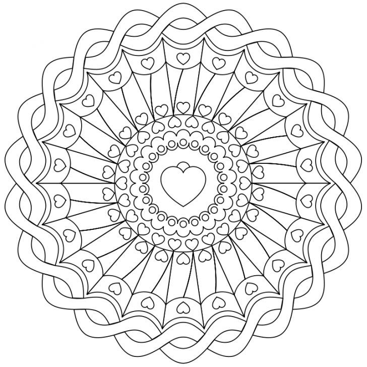 Mandala Ausmalbild Nr 72 Mandala Coloring Pages Pattern Coloring Pages Mandala Coloring