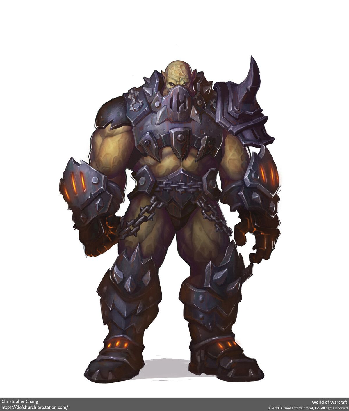 concept art world of warcraft orc