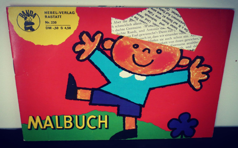 Coloriage cahier rétro de la boutique SaintFrusquin sur Etsy