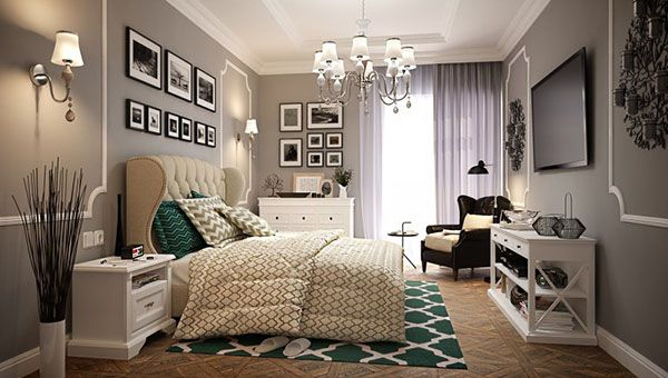 Bedroom Image The Grey Wall Of Modern Vintage Glamorous Bedrooms Glamorous Bedroom Bedroom Moder Glamourous Bedroom Modern Vintage Bedrooms Bedroom Vintage