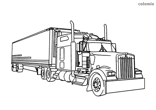 Dibujo De Camion Para Colorear Camion Dibujo Coche De Bomberos Tatuaje De Camion
