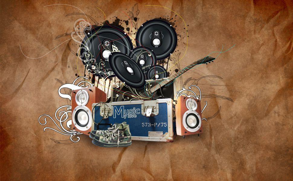 Abstract Music HD Wallpaper