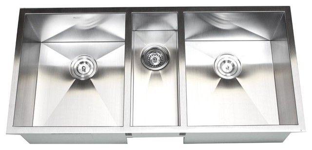 Three Bowl Kitchen Sink | Sinks, Bowls and Kitchens