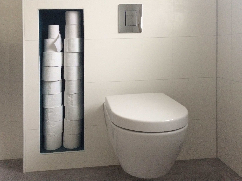 Toilettenpapiernische Badsanierung Toilette Badplanung