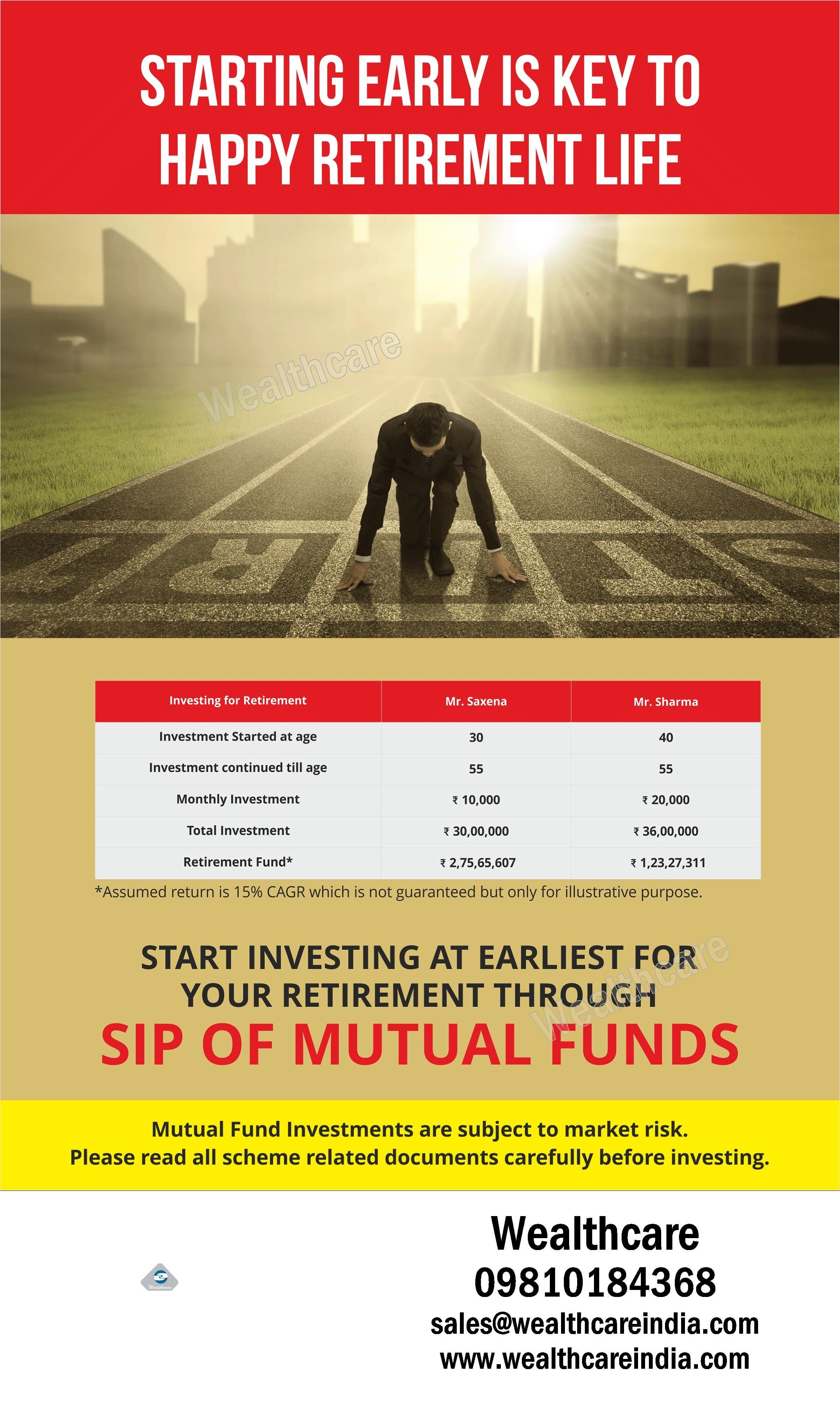 Plan your retirement in advance by investing in best