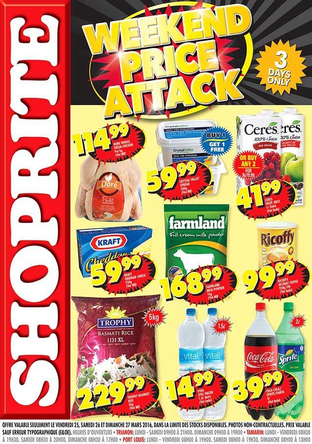 Shoprite Hyper 3 Days Only Trianon Tamarin Port Louis 25 27 Mars 2016 Adverts Latest Shoprite Port Louis Day