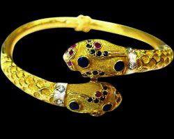 BYZANTINE EMPIRE Gold precious stones bracelet 22k Gold