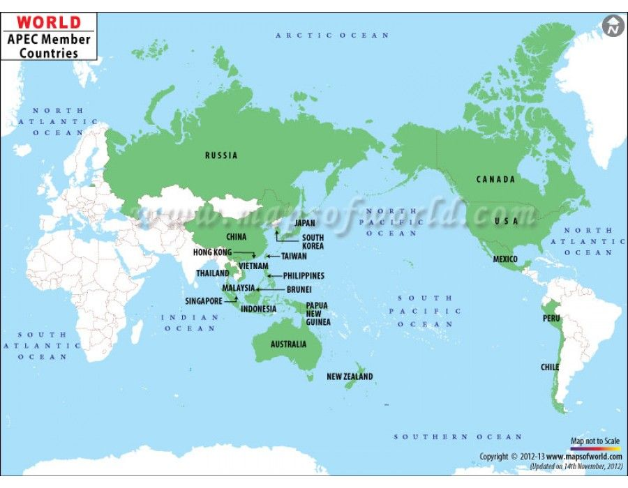 Buy apec member countries world map online world map pinterest buy apec member countries world map online gumiabroncs Images
