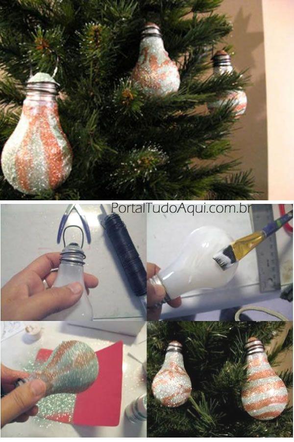 decoração-criativa-baratinha-simples-para-Natal-enfeite-lampada