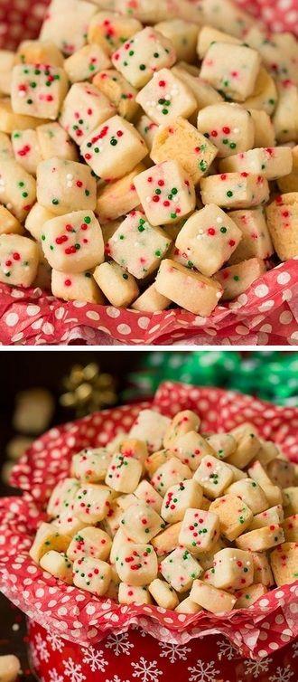 Shortbread Bites Shortbread, Food and Christmas cookies