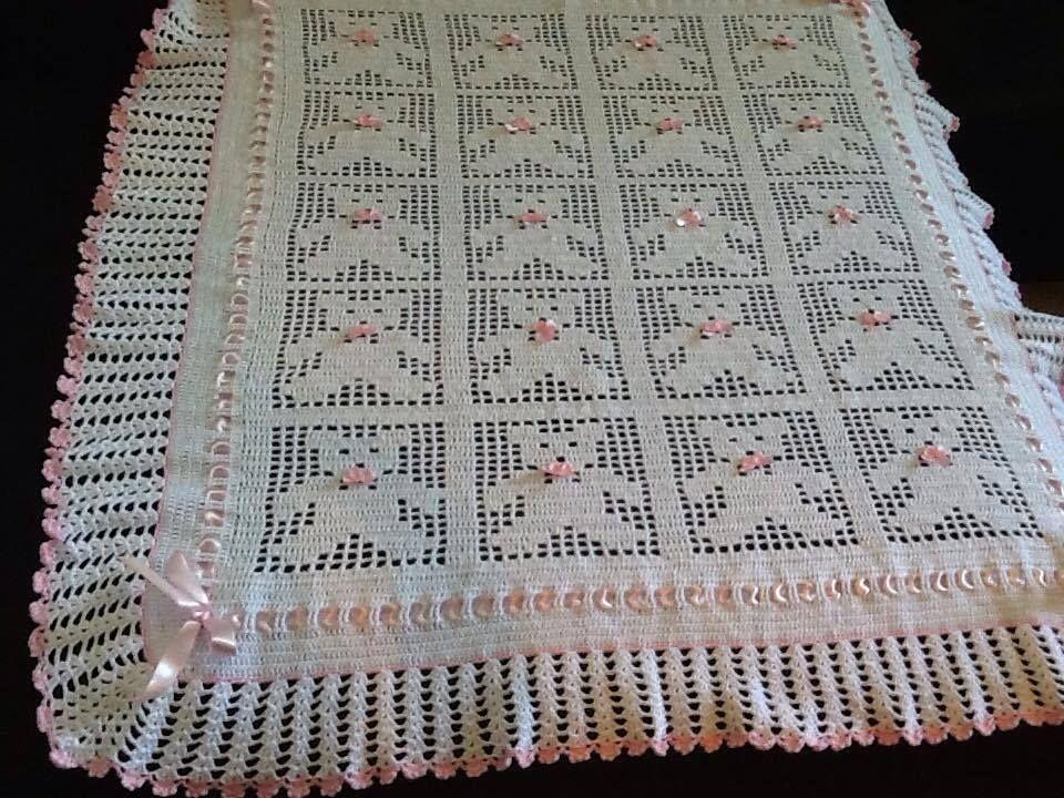 Eu que fiz vov baisa manta de croch ursinhos - Manta de crochet facil ...