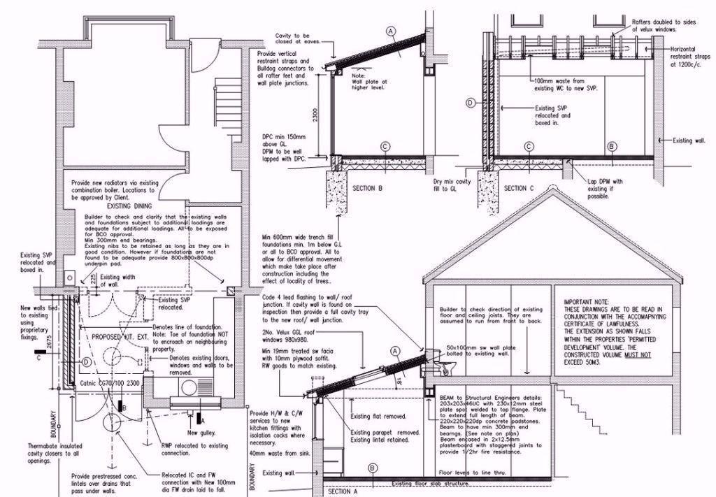 86 Jpg 1024 711 House Extensions Floor Plans Diagram