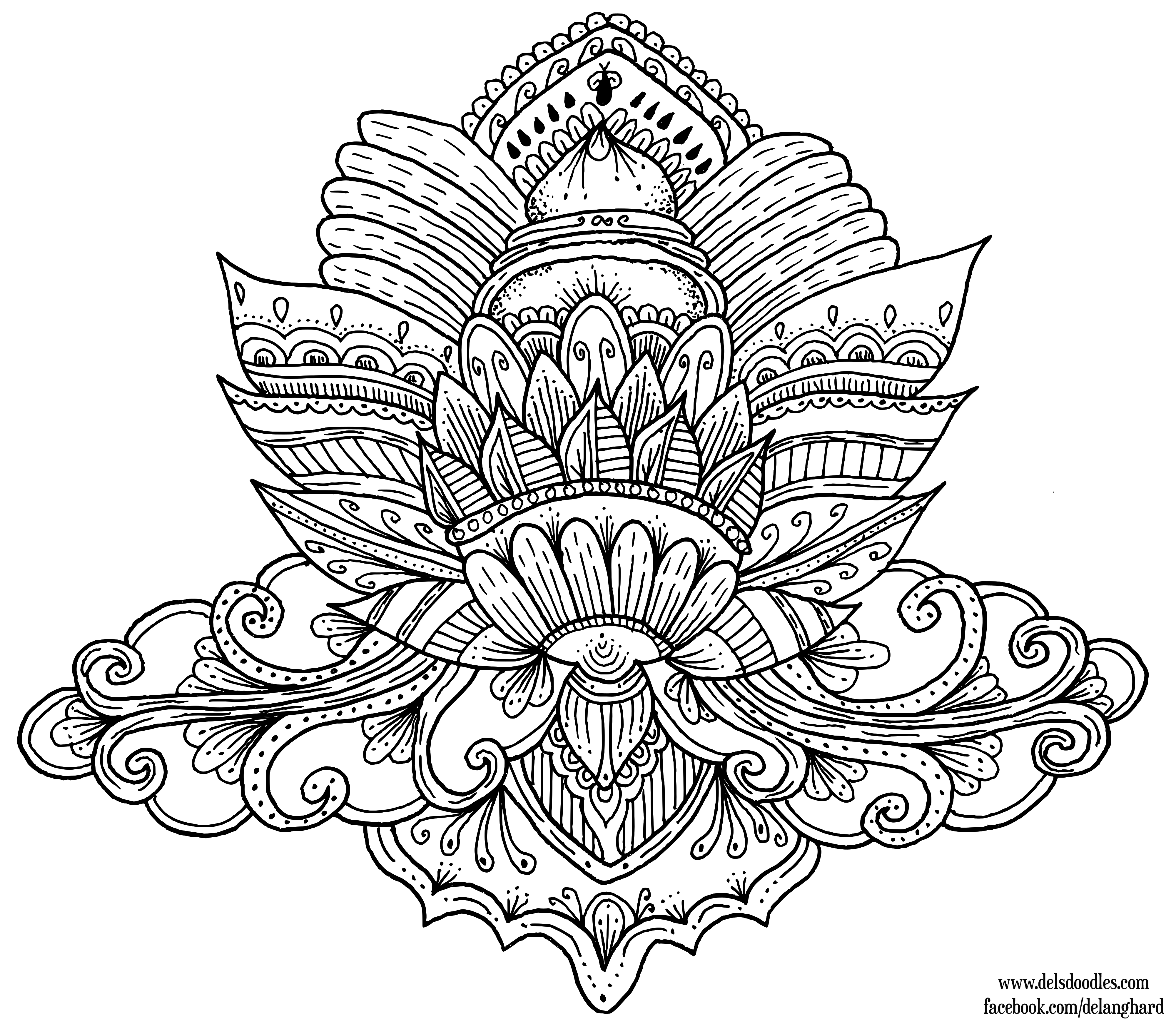 Lotus Colouring Page Coloring Pages Designs Coloring Books Flower Coloring Pages