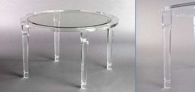 New From Muniz Studio Modern Round Acrylic Dining Table Ebay