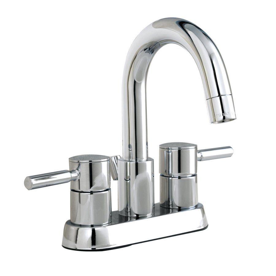 AquaSource F51A1014CP Chrome Centerset Bathroom Sink Faucet Drain ...