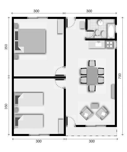 Viviendas prefabricadas planos planos plantas de casas for Casas prefabricadas pequenas